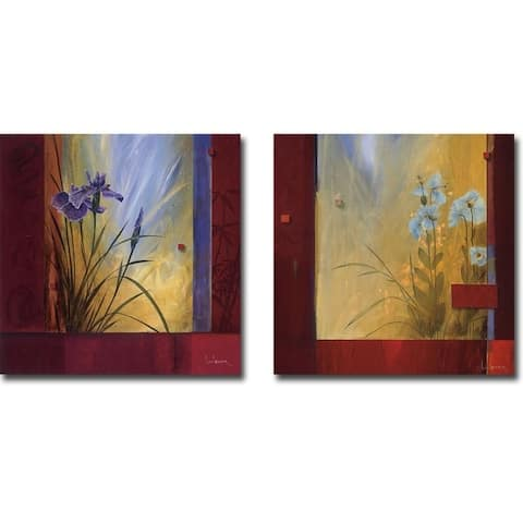 L'Espirit du Printemps & Le Decouverte du Jardin by Don Li-Leger 2-pc Gallery Wrapped Canvas Giclee Set