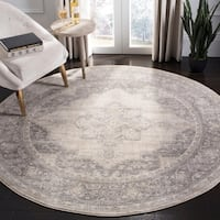 "Safavieh Brentwood Traditional Oriental - Cream / Grey Rug - 6'7"" x 6'7"" round"