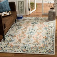 Safavieh Handmade Aspen Bohemian & Eclectic Southwestern - Ivory / Blue Wool Rug - 10' x 14'