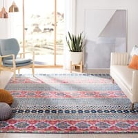 "Safavieh Madison Cleo Bohemian Eclectic Navy / Ivory Area Rug - 5'1"" x 7'6"""