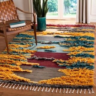 Safavieh Hand-knotted Kenya Khloe Southwestern Tribal Wool Rug