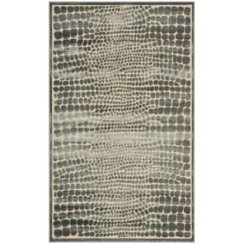 """Safavieh Martha Stewart Collection Modern & Contemporary Print - Grey / Cream Viscose Rug - 3'3"""" x 5'3"""""""