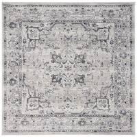 "Safavieh Charleston Vintage Oriental - Grey / Dark Grey Rug - 6'7"" x 6'7"" square"