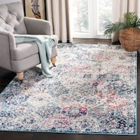 Safavieh Madison Boho Vintage Glam Navy / Teal Rug - 8' x 10'
