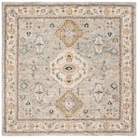 Safavieh Handmade Aspen Bohemian & Eclectic Southwestern - Moss / Ivory Wool Rug - 7' x 7' Square