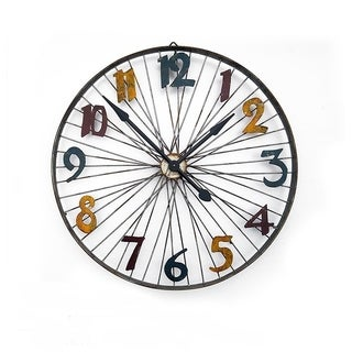 "Handmade Modern Wall Clock - 28"" x 28"""