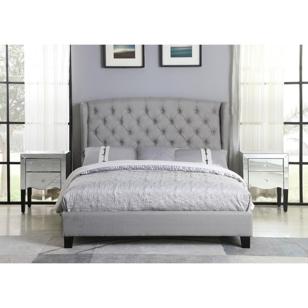 Best Master Furniture Tufted with Wingback Platform Bed. Opens flyout.