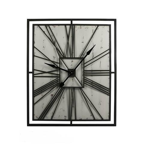 Handmade Square metal wall clock