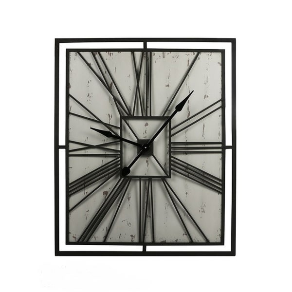 Handmade Square metal wall clock. Opens flyout.