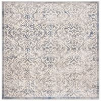 """Safavieh Brentwood Traditional Oriental - Light Grey / Blue Rug - 6'7"""" x 6'7"""" square"""