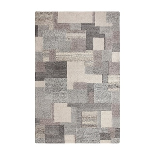 """Colorfields Stonework Gray Tufted Rectangle Rug - 7'6"""" x 9'6"""""""
