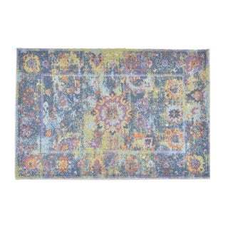 Colorfields Pied-A-Terre Blue Printed Accent Rug - 2' x 3'