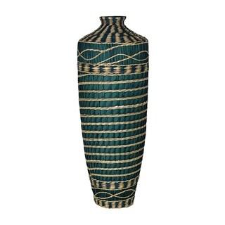 Essential Decor & Beyond Seagrass Wrap Ceramic Floor Vase EN30332