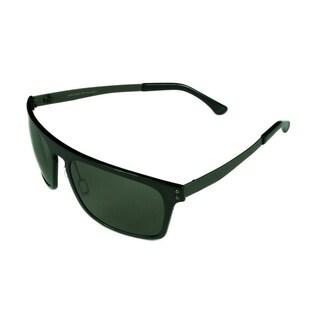 Serengeti Men's Ferrara Sunglasses Crystal Dark Charcoal w/ Polarized PHD CPR Lens