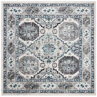 "Safavieh Madison Vintage Oriental - Light Grey / Blue Rug - 6'-7"" X 6'-7"" Square"