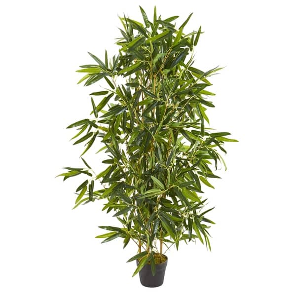 Shop 4 Bamboo Artificial Tree Real Touch Uv Resistant Indoor