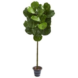 4' Fiddle Leaf Artificial Tree With Decorative Planter