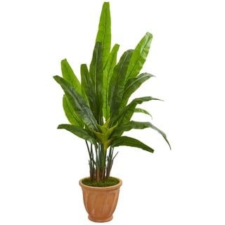 Nearly Natural 5-foot Travelers Palm Artificial Tree in Terracotta Planter