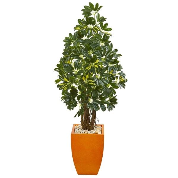 Nearly Natural 59-inch Schefflera Artificial Tree