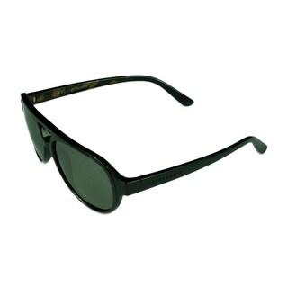 Serengeti Giorgio Men's Sunglasses Shiny Black/Tort Frame w/ Polarized 555NM Lens - Black