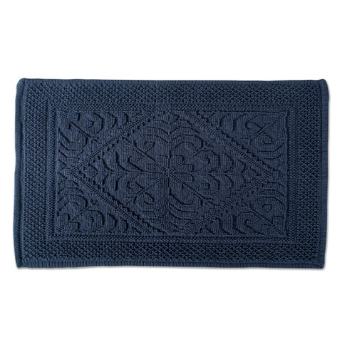 DII Soft and Absorbent Jacquard Bordered Bath Mat - 21 x 34
