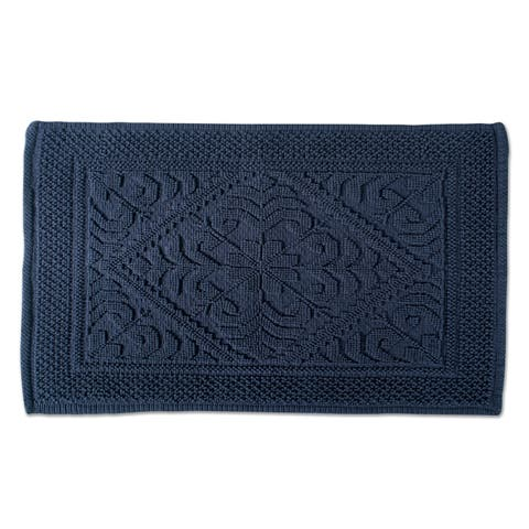 DII Soft and Absorbent Jacquard Bordered Bath Mat