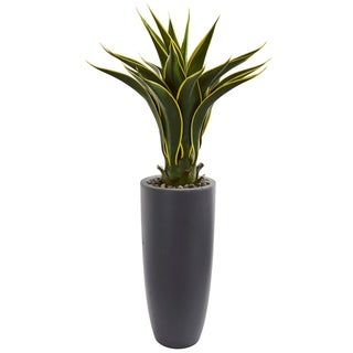 Nearly Natural Agave Artificial Plant in Bullet Planter