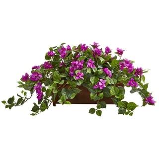 Nearly Natural Bougainvillea Artificial Plant in Decorative Planter