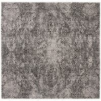 "Safavieh Lurex Modern & Contemporary Abstract - Black / Light Grey Polyester Rug - 6'7"" x 6'7"" square"
