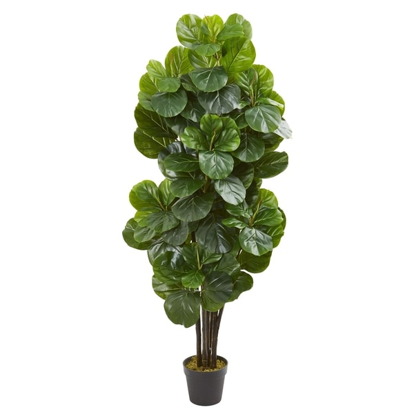 Nearly Natural 5-foot Fiddle Leaf Fig Artificial Tree. Opens flyout.