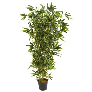 Nearly Natural Real Touch UV-resistant Indoor/Outdoor 57-inch Bamboo Artificial Tree