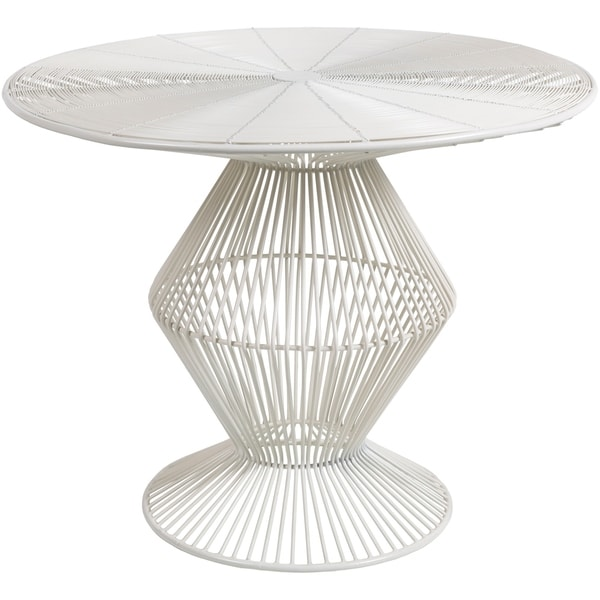 Ryder White Modern Metal Wire Accent Table