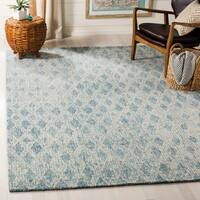 Safavieh Handmade Abstract Modern & Contemporary Abstract - Ivory / Blue Wool Rug - 9' x 12'