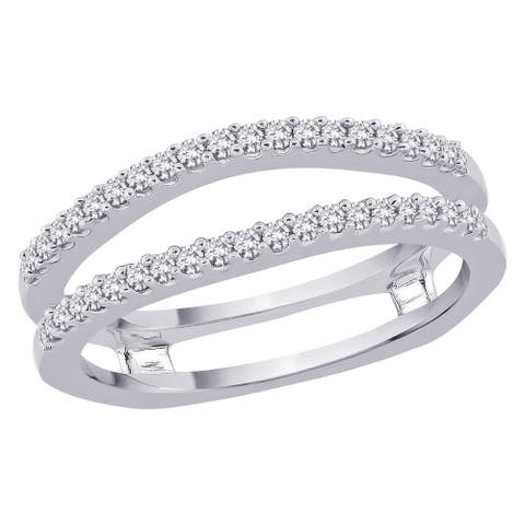14K White Gold 1/3ct TDW Diamond Ring Enhancer (I-J, I1)