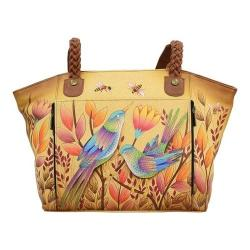 Women's ANNA by Anuschka Hand Painted East-West Organizer Tote 8315 Sienna Sunset