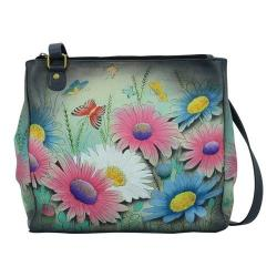 Women's ANNA by Anuschka Hand Painted Multi Compartment Organizer Tote 8316 Enchanted Evening