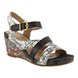 Wide Range Of Cheap Online L'Artiste by Spring Step Leanna Strappy Sandal(Women's) -Yellow Multi Leather Wide Range Of For Sale Clearance Popular p1JjIJJt