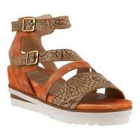 Women's L'Artiste by Spring Step Nolana Strappy Sandal Coral Multi Leather