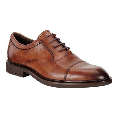 Men's ECCO Vitrus II Cap Toe Tie Amber Java Leather