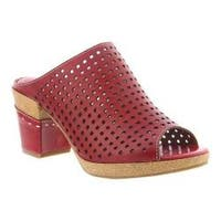 Women's L'Artiste by Spring Step Patience Slide Red Leather