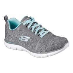 Women's Skechers Flex Appeal 2.0 Training Sneaker Gray/Light Blue