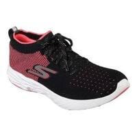 Women's Skechers GOrun 6 Running Shoe Black/Hot Pink