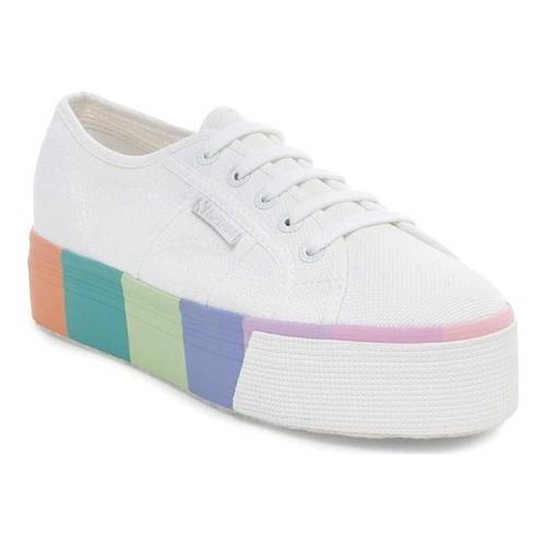 Shop Women s Superga 2790 Comultifoxing Platform Sneaker White Canvas -  Free Shipping Today - Overstock - 19964822 c92855279