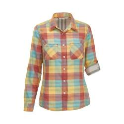 Women's Woolrich Conundrum Eco Rich Convertible Shirt Baked Clay Multi