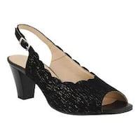 Women's Spring Step Janelle Slingback Black Leather