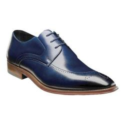 Men's Stacy Adams Ballard Plain Toe Oxford 25187 Ink Blue Smooth Leather