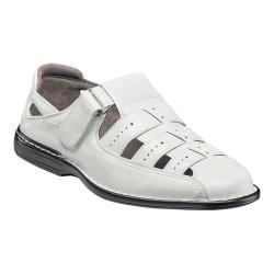 Men's Stacy Adams Bridgeport Fisherman Sandal 25184 White Synthetic