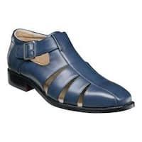 Men's Stacy Adams Calisto Fisherman Sandal 25112 Navy Synthetic