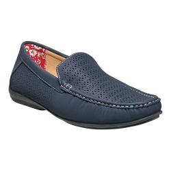 Men's Stacy Adams Cicero Perfed Moc Toe Loafer 25172 Navy Synthetic