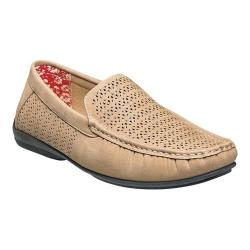 Men's Stacy Adams Cicero Perfed Moc Toe Loafer 25172 Taupe Synthetic